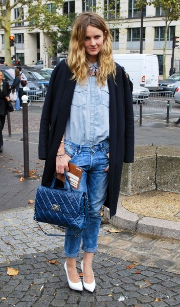 How to Play Denim on Denim Outfit In Street Style