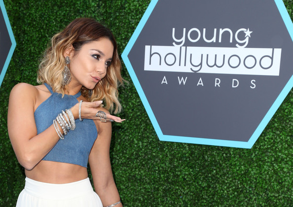 Vanessa Hudgens loaded up on the bangles for the Young Hollywood Awards.