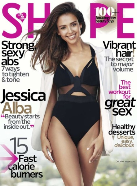 Jessica Alba on Shape Magazine October 2016 Cover | Jessica Alba Beauty's Secret: Shape Magazine Cover October 2016