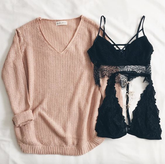 Madison Knit Sweater Adelia & Camille Bralette