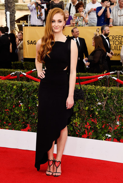 Sophie Turner Cutout Dress by Osman