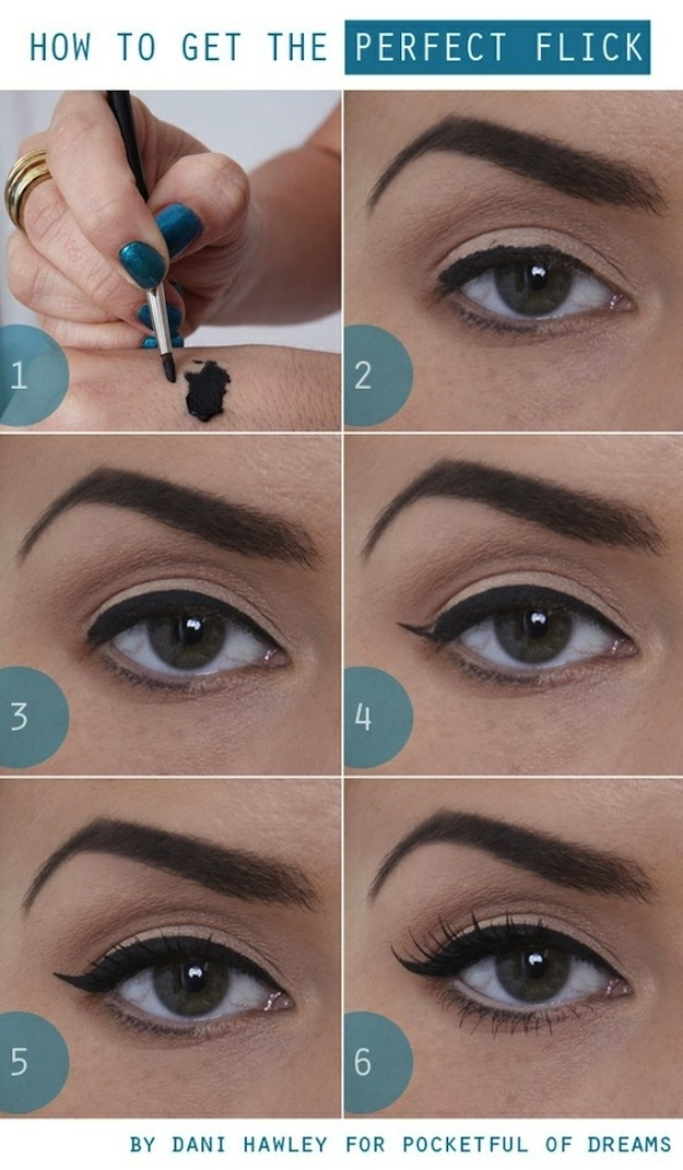 Via zomoc.com | How To Make Perfect Eyecats on Makeup