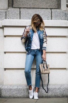 Never Go Wrong To Wear Bomber Jacket With Outfit