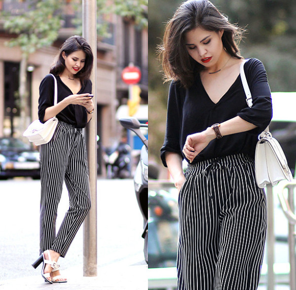 Striped Pants Outfit Looks You Can Follow Right Now 187 Celebrity Fashion Outfit Trends And
