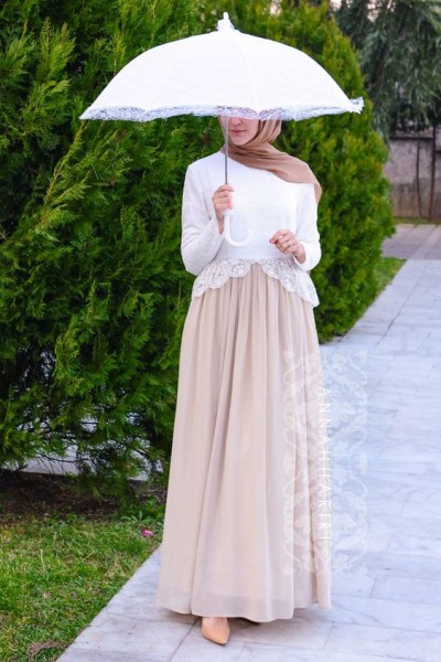 Pastel hijab outfit ideas for this fall celebrity for Annah hariri wedding dress