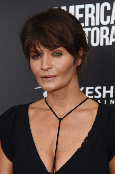 Helena Christensen Messy Updo Celebrity Fashion Outfit Trends And