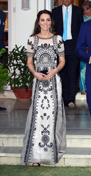 Kate Middleton looked appropriately regal in the Temperley London Delphia embroidered tulle top while celebrating the Queen's 90th birthday.