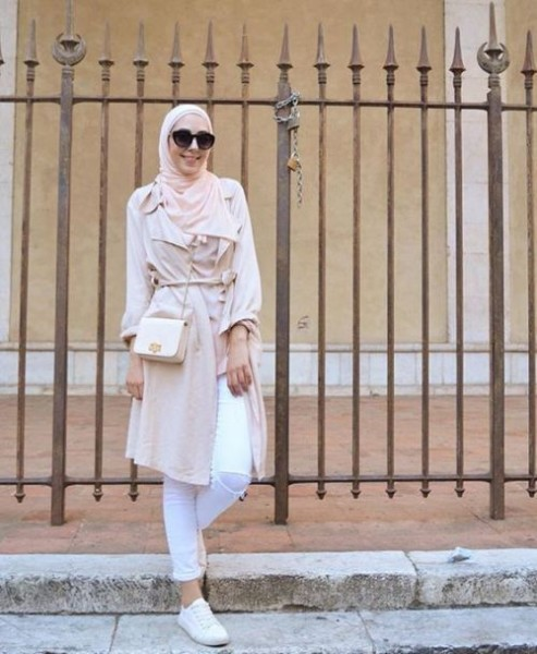 pastel neutral hijab-