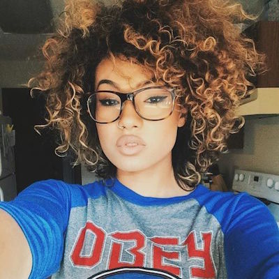Ombre Afro Hairstyle