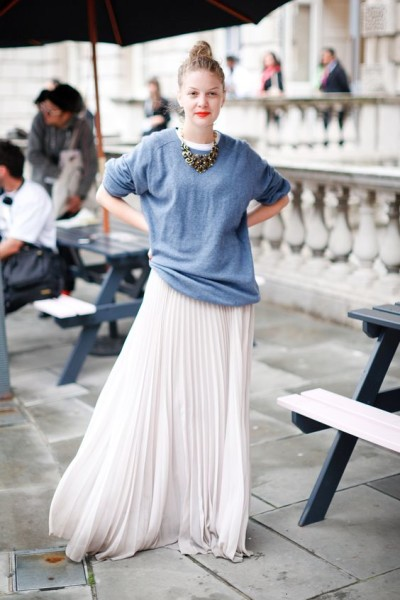 White Pleated Skirt | Chic And Stylish Ways To Style Maxi Skirts