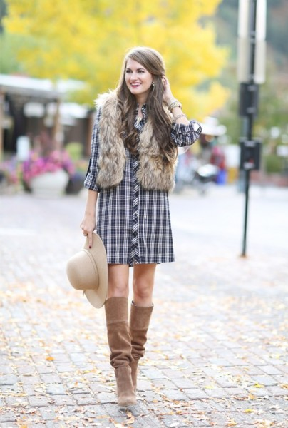How to Style Outfit With High-knee Boots In This Season via southerncurlsandpearls.com