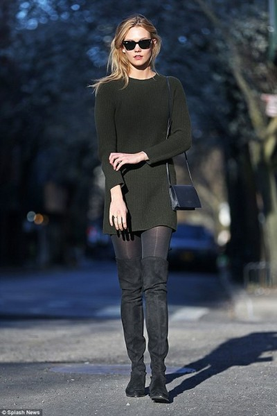 Karlie Kloss ushered in the spring on Tuesday as she stepped out in New York City