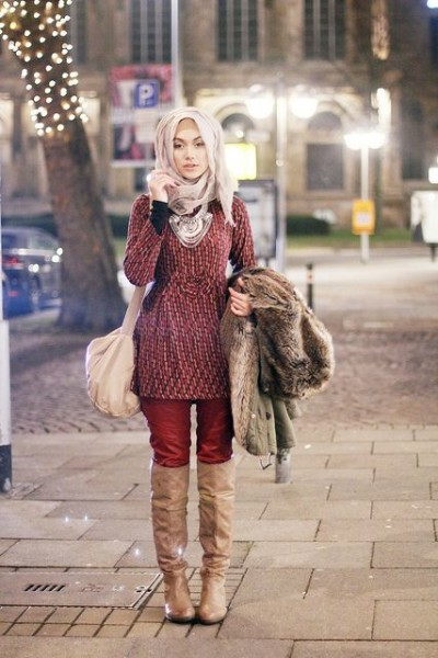 Love the boots and the color combination via Indah Nada Puspita