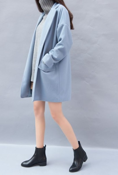 Soft blue coat
