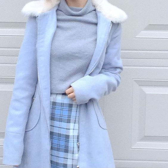Picked Color Baby Blue Winter Outfits 187 Celebrity
