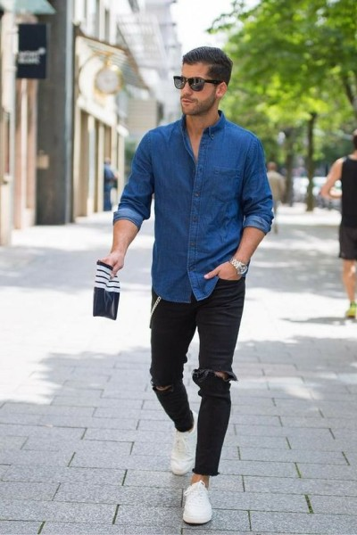 2017 Stylish Men's Outfit Ideas With Denim