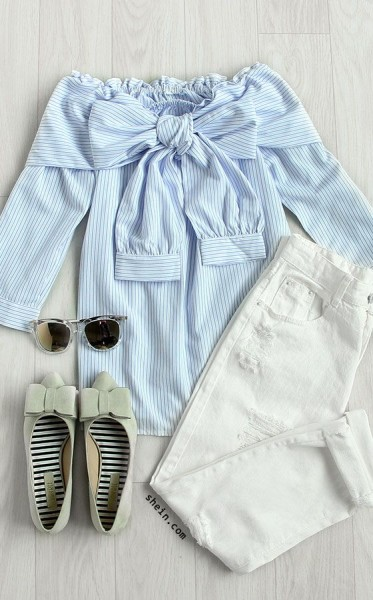 Blue Banker Striped Shirt