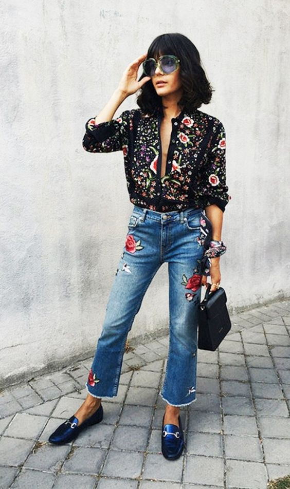 Trend Spring Fashion With Floral Embroidery Outfits