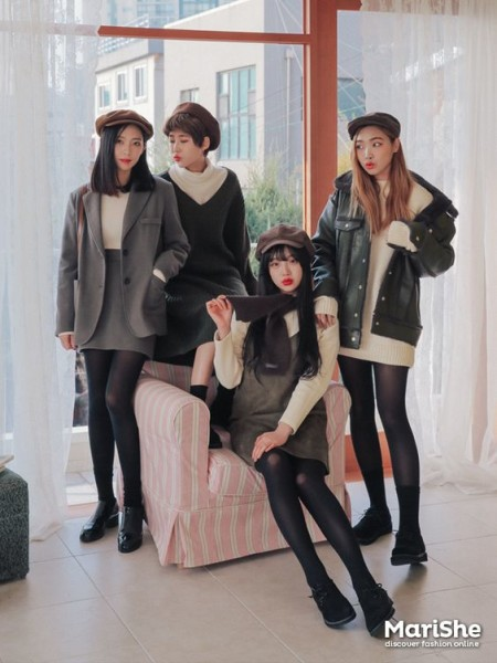 Winter vintage outfits