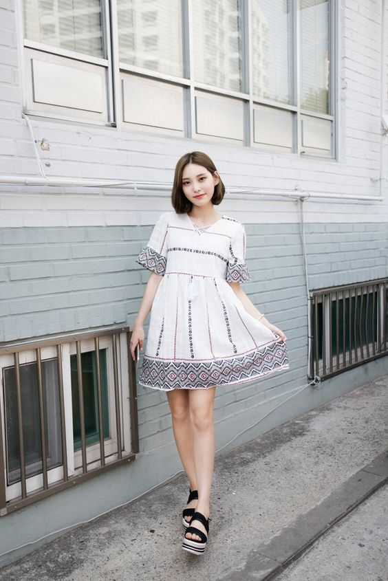 Stylish Ways To Wear Dresses From Korean Fashion Style