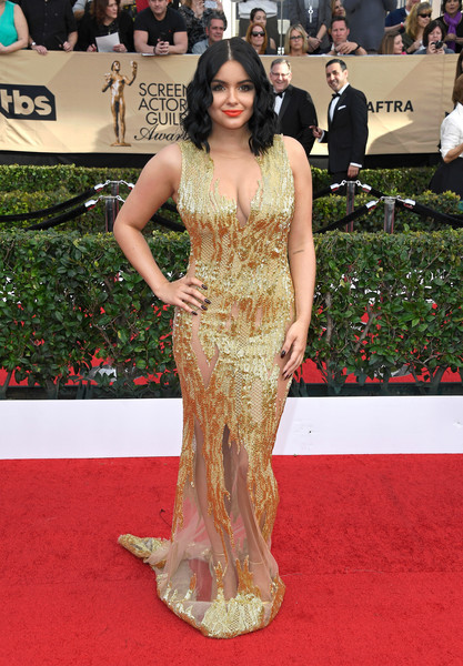 Most Stunning Ariel Winter Red Carpet Fashion Moments Ariel Winter Beaded Dress by Mikael D