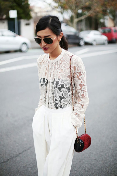 Stylish Sheer Top Outfit Ideas You Can Follow Now