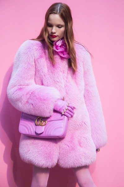 Pink Fur Coat via HonestlyWTF