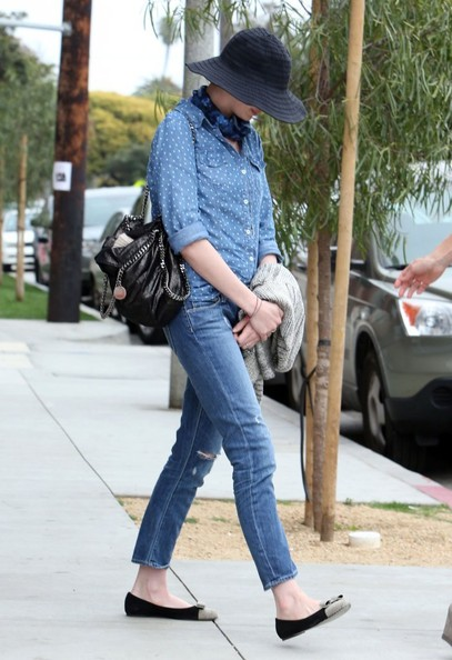 Anne Hathaway Button Down Shirt