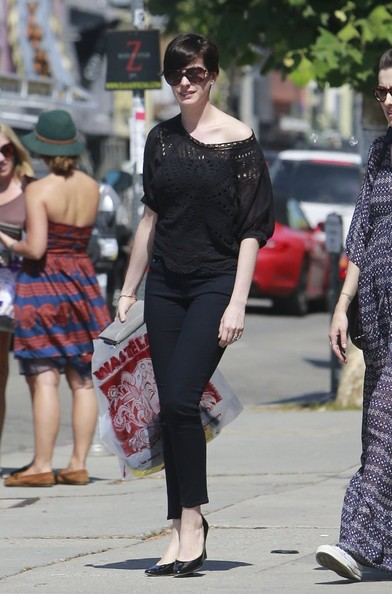Anne Hathaway Off-the-Shoulder Top
