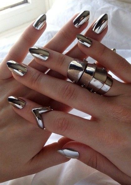 Mettalic Nail Art Ideas