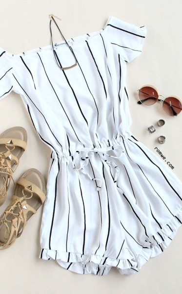 Jumpsuit Romper via Romwe