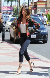 Selena Gomez out in CA