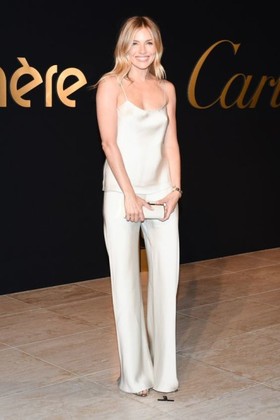 Sienna Miller at a Cartier Event wearing a The Row Set looking gorgeous