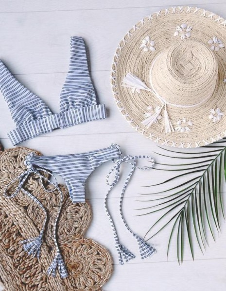 Stripes Bikini via LUlus
