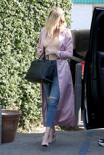 Khloe in Pink Coat
