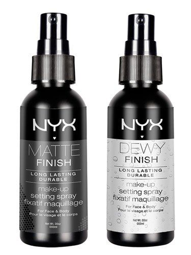 NYX Makeup Setting Spray - Matte Finish & NYX Dewy Finish Makeup Setting Spray