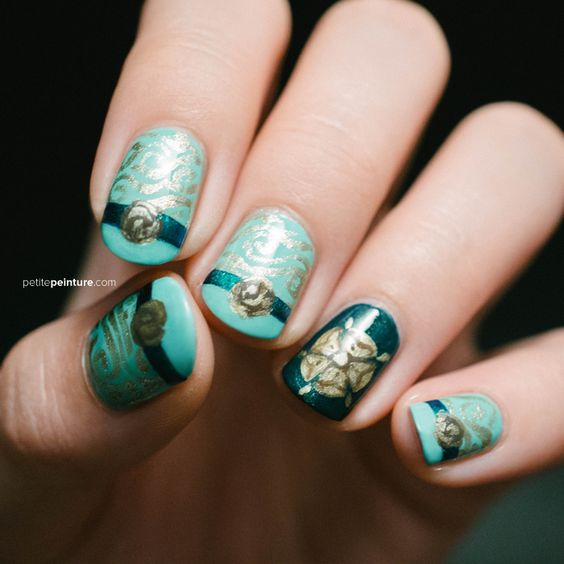 Game of Thrones House Tyrell Highgarden Petite Peinture Nail Art
