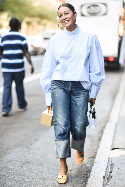 The Most Stylish Cuffed Jeans Outfit Ideas For Fall