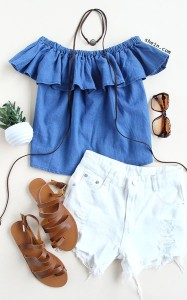 WHite Short Jeans by SheIn