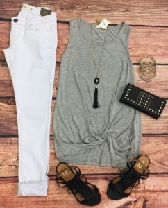 White Jeans Outfit via Privity Boutique