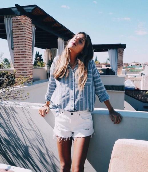 White Short Jeans