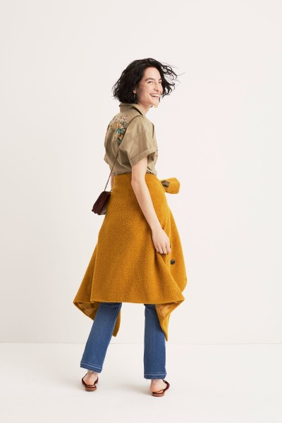 Embroidered Safari Shirt Bouclé Coat The Chain Crossbody Bag