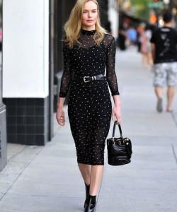 Kate Bosworth's All-Black Sheer Dress