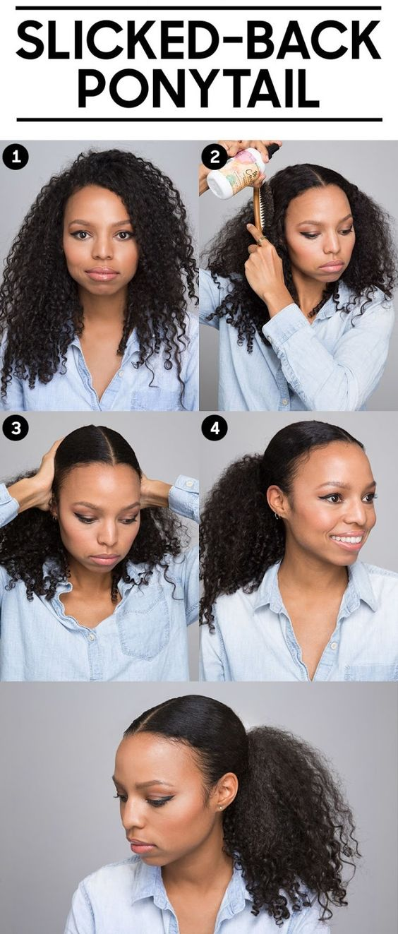 Ponytail for Curly hair
