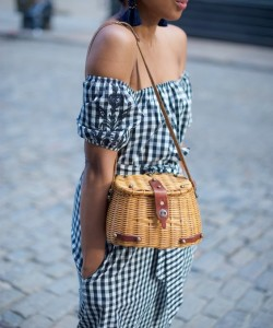a vintage straw bag