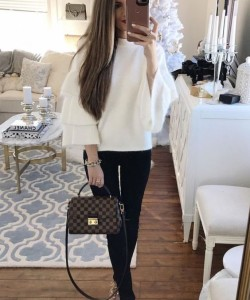ruffle sleeve sweater