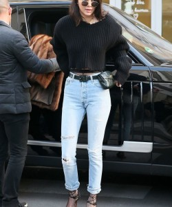Kendall Jenner stepped out in Paris wearing a vintage Chanel fanny pack. That's right. The fanny pack is a thing again and we're not mad about it.