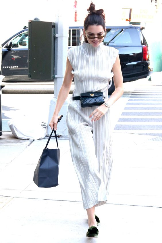 Kendall Jenner wearing Chanel Belt Bag