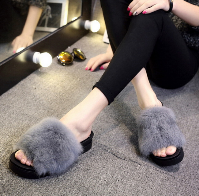 What to Wear With Fur Slides