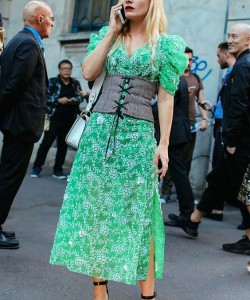 A street style lesson in how to wear the corset in real life.